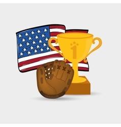 Baseball championship cup vector