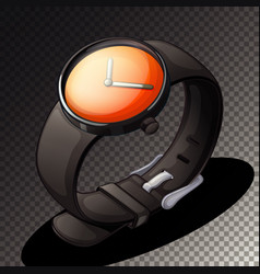 black watch icon on transparent background vector image