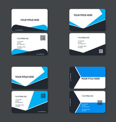 Business card template with color concept modern vector