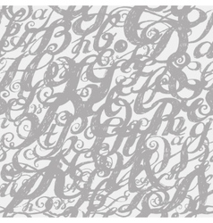 Calligraphy alphabet typeset lettering Seamless vector image