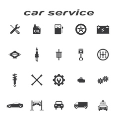 car servise icons vector image