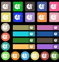 CD or DVD icon sign Set from twenty seven vector