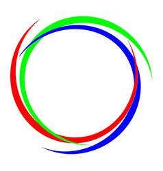 Circular rgb logo vector