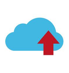 cloud storage icon image vector image