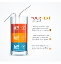 Coctail Glass Text Menu vector image