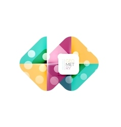 Colorful squares geometric elements vector