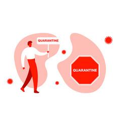 Coronavirus protection banner quarantine vector