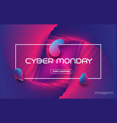 cyber monday sale techno styleliquid color vector image
