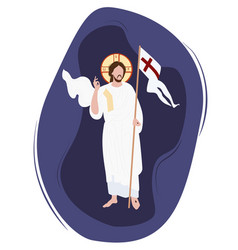 Easter sunday christ victorious icon religious vector