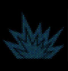 explosion boom mosaic icon of halftone bubbles vector image
