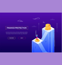finance protection - modern isometric vector image