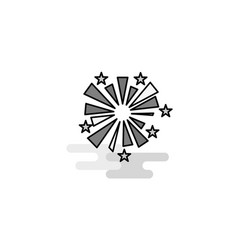 fireworks web icon flat line filled gray icon vector image