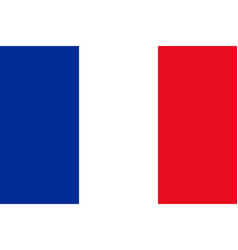 French flag flat layout vector