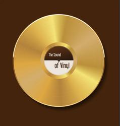 Gold vinyl vector