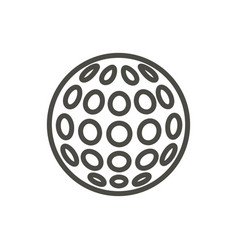 golf ball icon line relaxation game symbol vector image