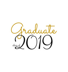 graduation label text for graduation vector image