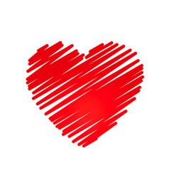 Hand drawn heart design element vector