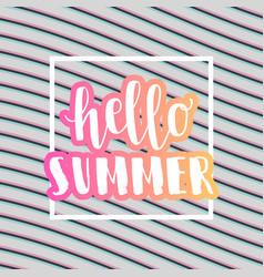 Hello summer sale banner vector