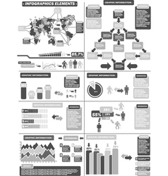 INFOGRAPHIC DEMOGRAPHICS 11 GRAY vector image