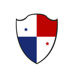 isolated badge of panama vector image