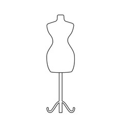 Isolated object mannequin and tailor symbol vector