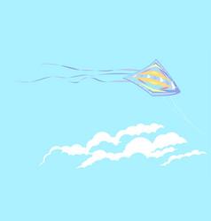Kite in sky vector
