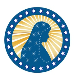 Lady of Fatima vector image