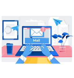 Mail communication connection message to mailing vector