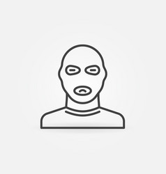 man in balaclava mask linear concept icon vector image