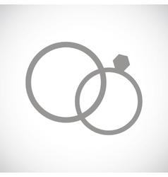 Marriage black icon vector