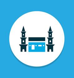 Mecca icon colored symbol premium quality vector