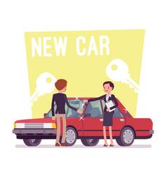 New car buying vector