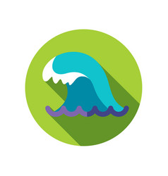 Ocean wave icon summer vacation vector