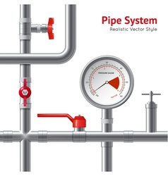 Plastic Pipe System Background vector image