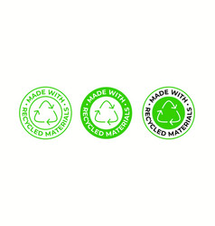 recycling icon made recycled material package vector image
