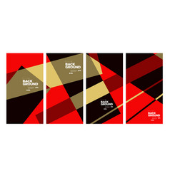 Red and black geometric for banner and social vector