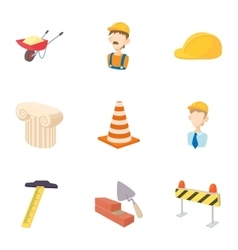 Repair tools icons set cartoon style vector image
