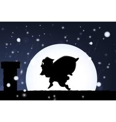 Santa visit vector image