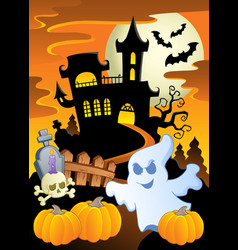Scene with halloween theme 5 vector