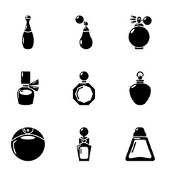 Scent icons set simple style vector