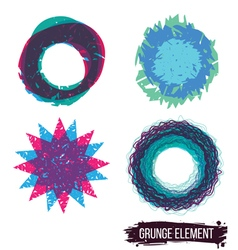 Set color grunge design element vector