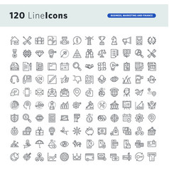 Set of premium concept icons vector