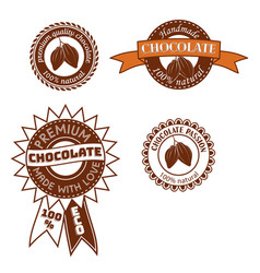 Set of vintage badge label logo template vector