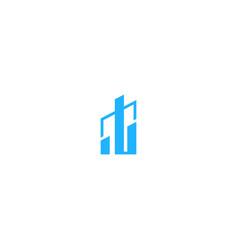 shape progress graph business logo vector image
