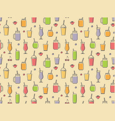smoothies seamless pattern vector image