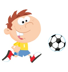 Soccer Boy With Ball vector image