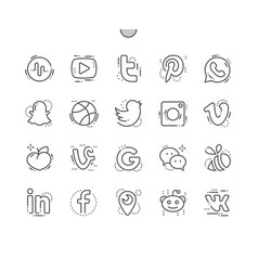 social media well-crafted pixel perfect vector image