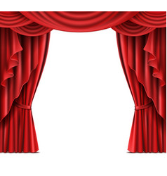 stage curtain with copyspace realistic vector image