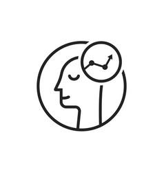 success logo like thin line human head vector image