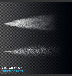 transparent water spray cosmetic set with dust vector image